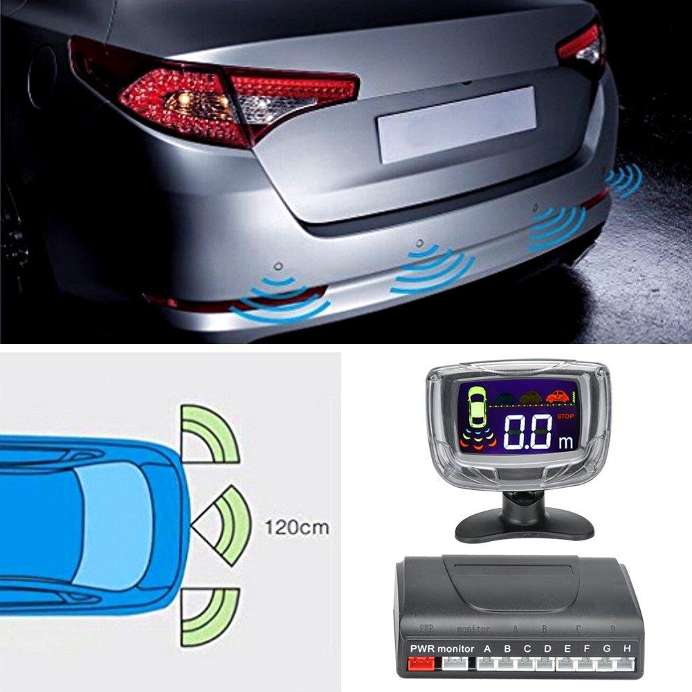 BW 8 aparcamiento con sensor ultrasónico sistema - pantalla LCD de 2 pulgadas, alerta de sonido, 0,3 A 2,5 m distancia de detección: Amazon.es: Electrónica
