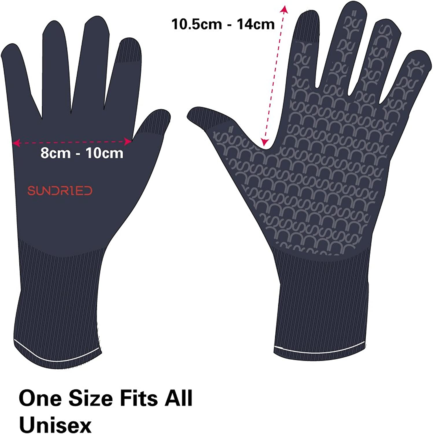 Cycling Sport Running Gloves Touch Screen Tech by Sundried Breathable Bambo...