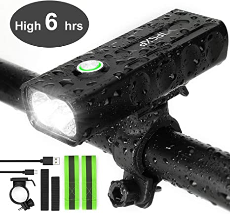 IPSXP Luz de Bicicleta, USB Recargable Luz de Delantera Faro LED ...