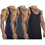Lehmanlin Men's Gym Tank Tops 3 Pack Stringer Bodybuilding T-Shirts 2CM Shoulder…
