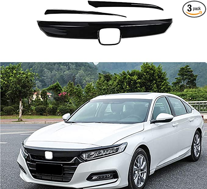 ABS Chrome Front Bumper Lip Protector Cover Trim 3pcs For Honda Accord 2018-2019