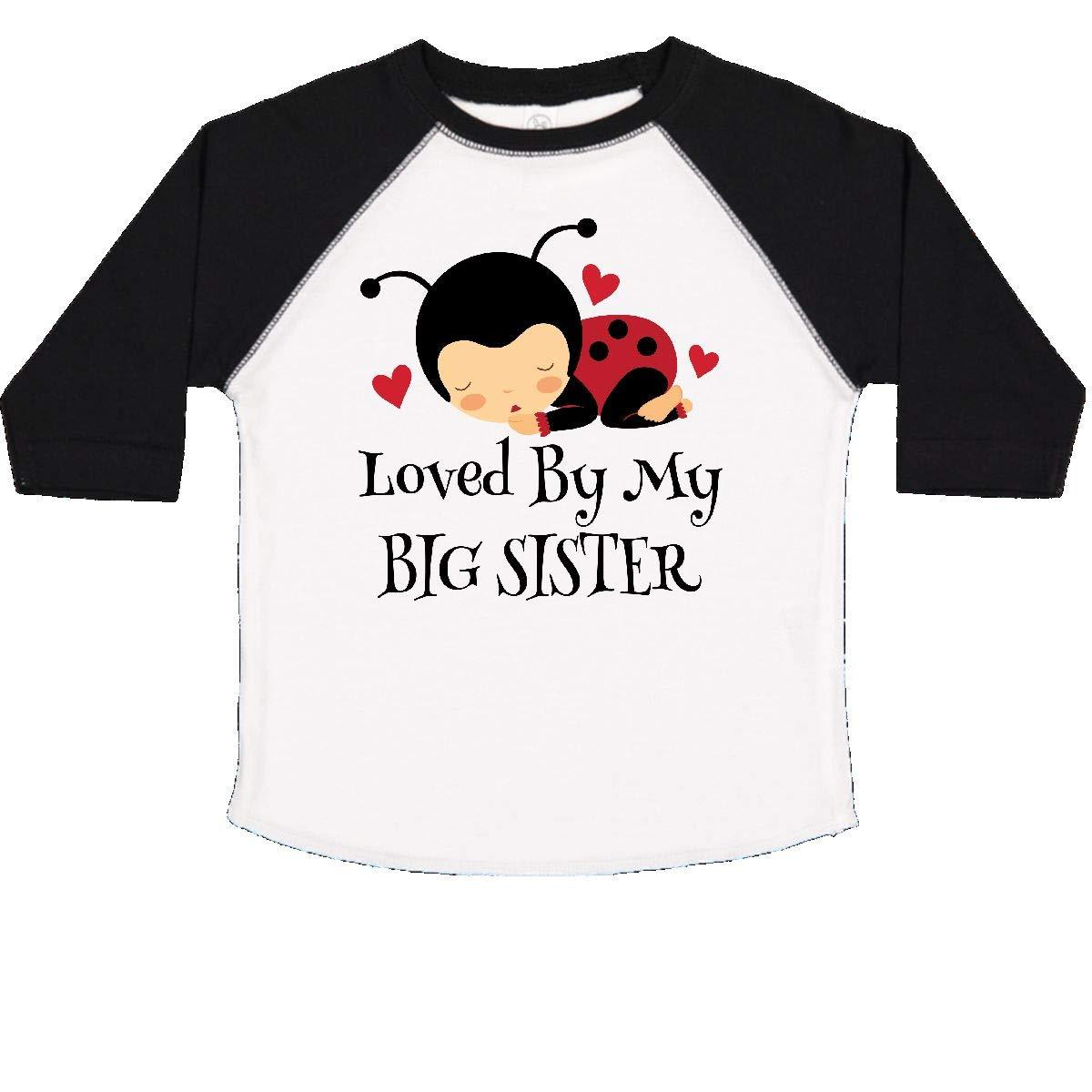 inktastic Little Sister Ladybug Toddler T-Shirt