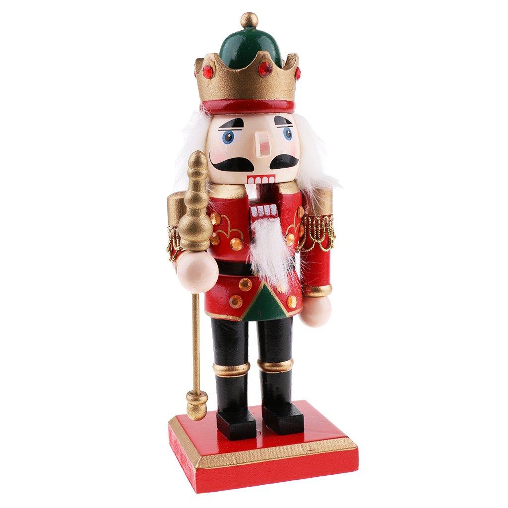 Fenteer Figurina Soldato Modello Burattino Bambola Giocattolo Schiaccianoci Decorazioni Natalizie - Verde