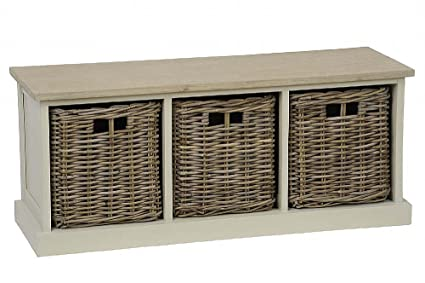 Enjoyable Southwold Cedar Wooden Ivory Storage Bench Seat Wicker Baskets Code 21894 Onthecornerstone Fun Painted Chair Ideas Images Onthecornerstoneorg