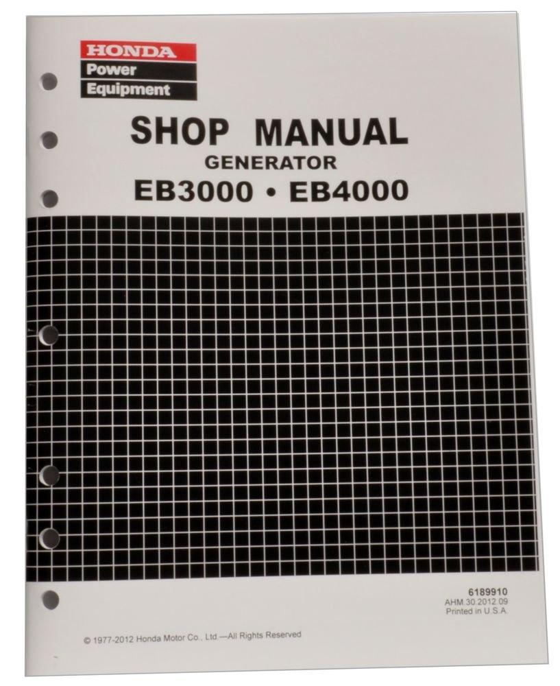 Amazon.com: Honda EB3000 EB4000 Generator Service Repair Shop Manual:  Automotive