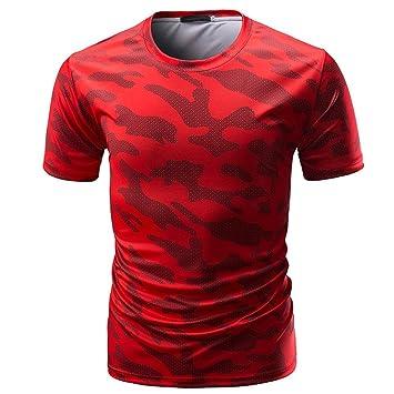 ❤Venmo Camisetas Hombre Originales,Camisas Hombre,Deportivas Hombre,Polos Hombre,Hombres Casual Camiseta de Manga Corta de Camuflaje,Hombres Slim Fit ...