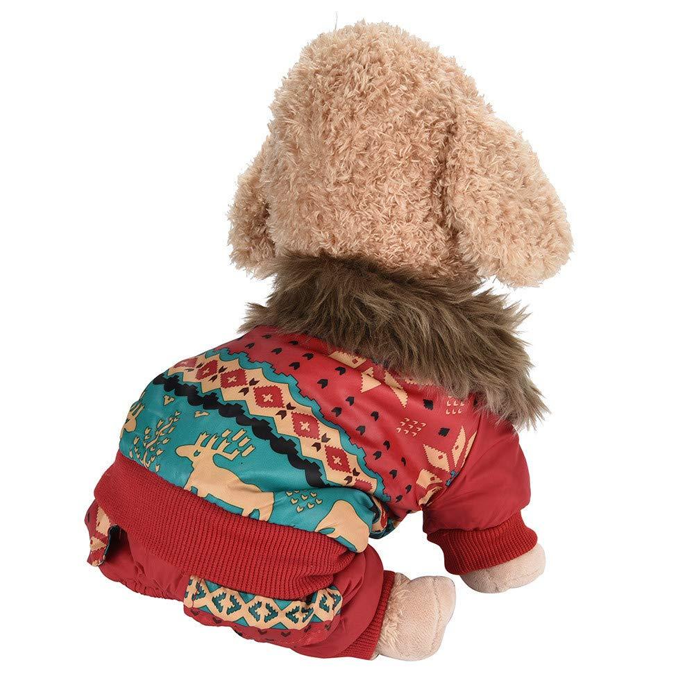 Ropa para Mascotas,Dragon868 Perros Mascotas Invierno Ropa de Navidad Alces suéter: Amazon.es: Ropa y accesorios