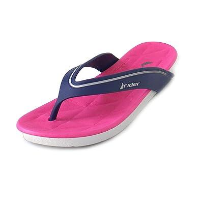 7df83620af9ea Rider Women s Thong Sandals Multicolour Mehrfarbig (Grey Blue Pink)  Multicolour Size