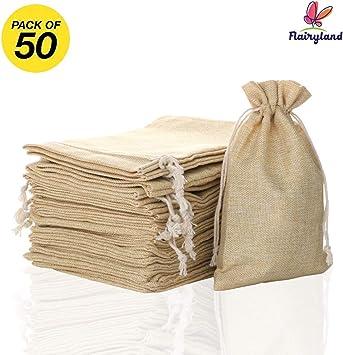 Flayyland - Bolsas de arpillera con cordón de yute para ...
