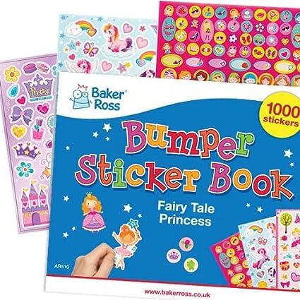 Baker Ross- Pack Ahorro con Láminas de Pegatinas de Princesas de Cuentos (Pack de 1000) -Decorar Manualidades Infantiles: Amazon.es: Juguetes y juegos