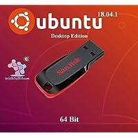 Ubuntu 18.04.1 GNOME 64 Bit Live Bootable Installation 16GB USB Pen Drive