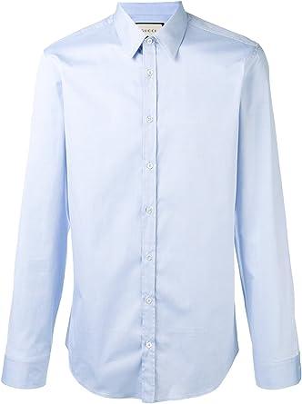 GUCCI - Camisa casual - para hombre Bleu Claire: Amazon.es ...