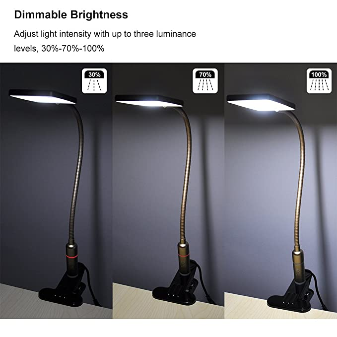 Princeway Smd5630 Couleur Dimmable Sumsung Du D'éclairage Pince Lampe Lecture La Led Lumière Leds Bureau Tactile Protection Jour 5w Des zUVSMp