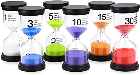 3 Minute Security Safety Sand Timer Hourglass w// Colored Sand Kids Gift