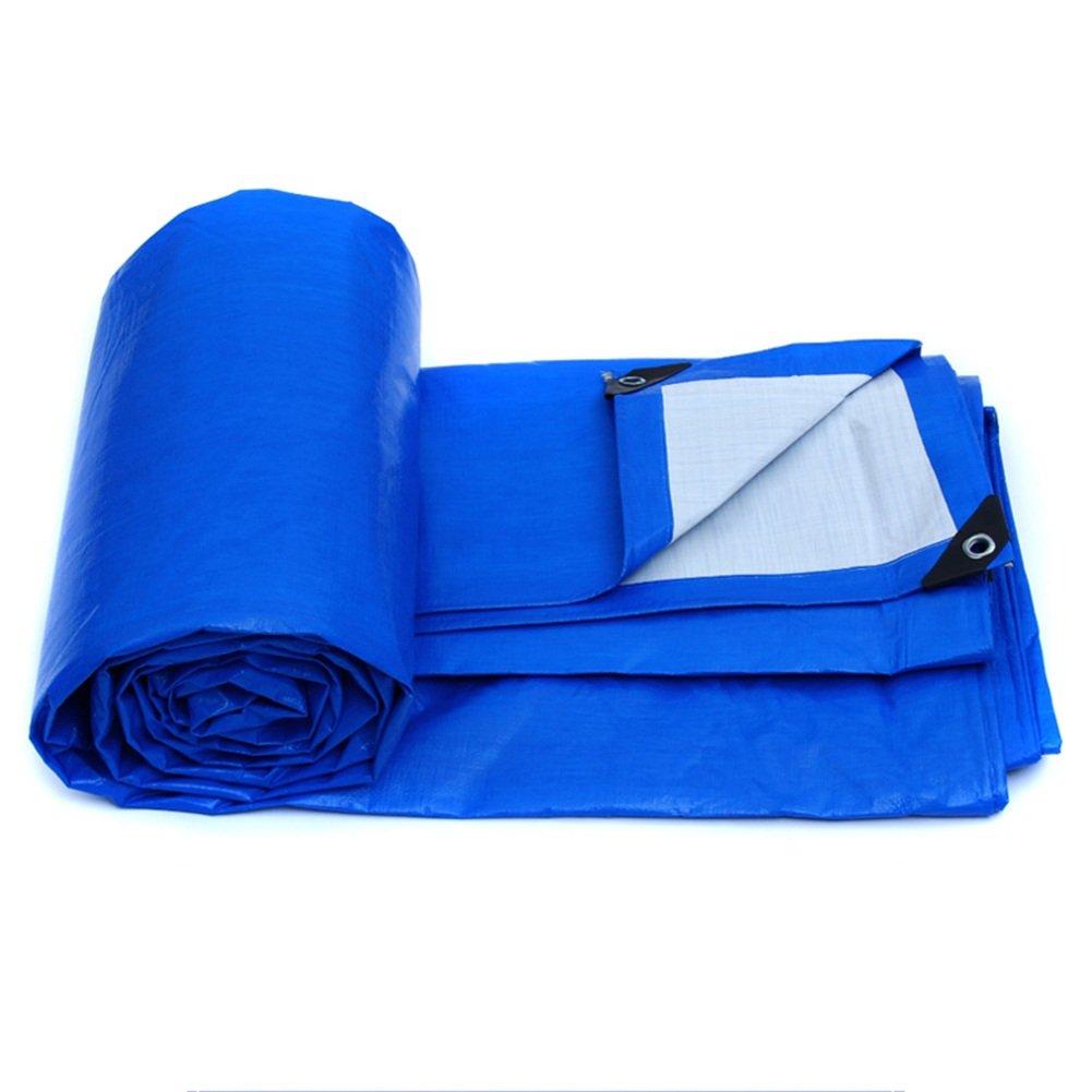 CHAOXIANG ターポリン プラスチッククロス ポンチョ アウトドア PE シェード布 折り畳み式、 155g /㎡, 9サイズ (色 : Blue, サイズ さいず : 3m x 2m) B07FTLMG85 3m x 2m|Blue Blue 3m x 2m