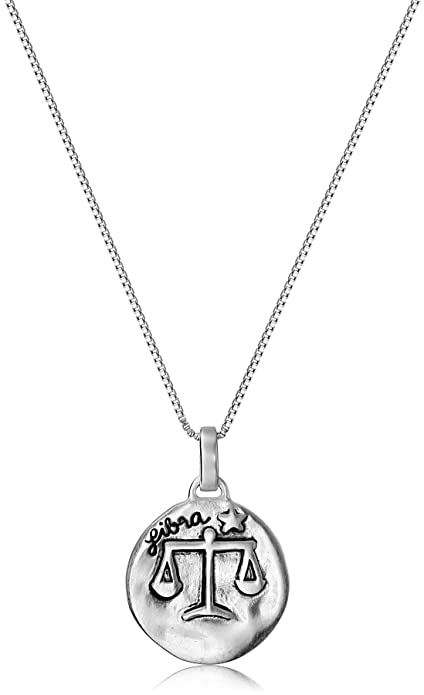 599303fc4a3f2 Sterling Silver Reversible Zodiac Pendant Necklace, 18