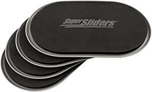 """SuperSliders 4744095N Reusable XL Heavy Furniture Sliders for Carpet- Quickly and Easily Move Any Item, 9-1/2"""" x 5-3/4' Gray (4 Pack)"""