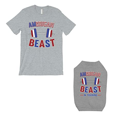 93d71bfc85 365 Printing American Beast Training Small Dog and Owner Matching Shirts  Funny (ONWER - L