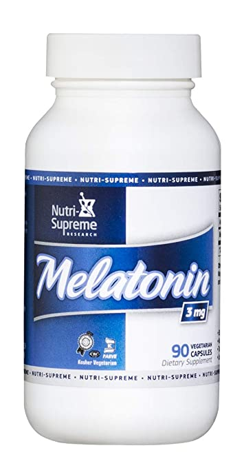 Nutri-Supreme Research Melatonin 3 mg. - 90 Vegetarian Capsules
