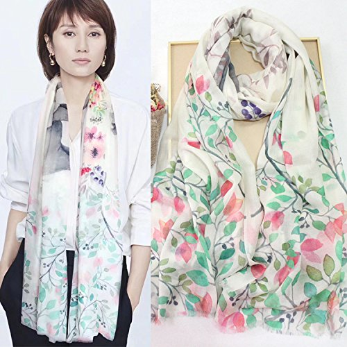 RENYZ.ZKHN Thin Scarf Large Long Towel Ring, Thin and Soft Scarf 100  200Cm