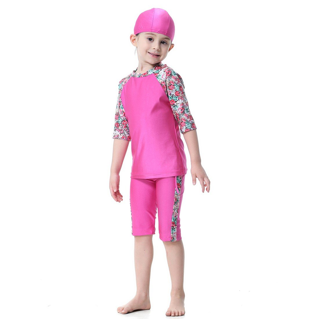 Paixpays Two Pieces Muslim Swimwear for Kids Islamic Swimsuit for Little Girl E9099S0104