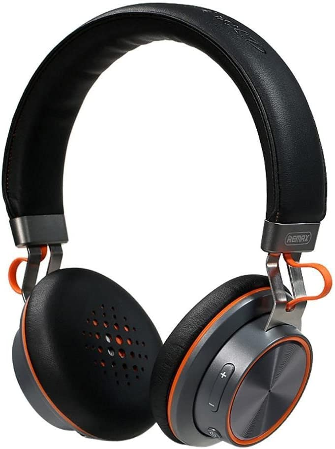 B.S Remax 195HB Wireless Bluetooth 4.1 Stereo Headphones with Microphone Wireless/Wired Noise Cancelling Headphones Comportable Earmuffs Earphones On-Ear Headsets (Black)
