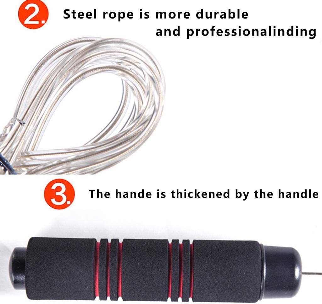 Skipping Rope for Fitness Rope Skipping Smony Skipping Ropes Speed Jump Rope Tangle-free Lightweight Rope Fitness Workouts Fat Burning Exercises Boxing for Conditioning Fat Loss