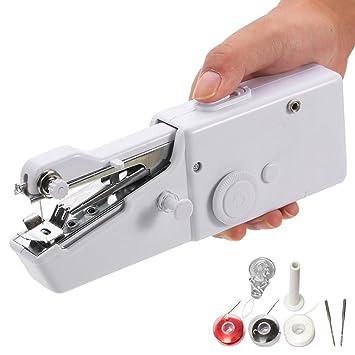 EEEKit Mini eléctrico inalámbrico de mano máquina de coser portátil profesional herramienta de punto de rápida