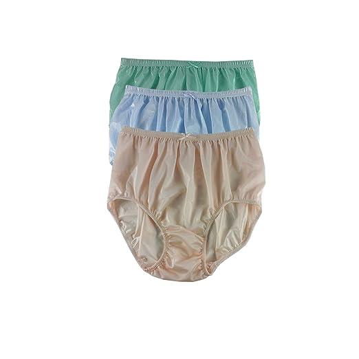 e396c133d07c NQTD06 Lots 3 pcs New Granny Panties Briefs Sheer Nylon Underwear for Women  & Men Plus