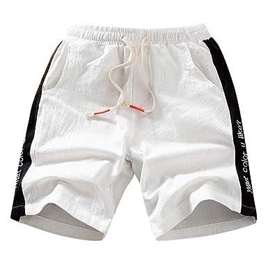 Geilisungren Pantalones Cortos para Hombre Pantalones Cortos ...