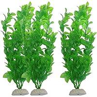 Balacoo 3Pcs Artificial Aquarium Plants Fish Tank Decor Plastic Green Plant Lifelike Underwater Simulation Grass…