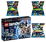 Lego Dimensions Demolition Starter Pack + Mission Impossible Level Pack + A-Team Fun Pack + Knight Rider Fun Packs for Playstation 3 or PS3 Slim Console