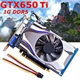 NXDA GTX650Ti 1GB GDDR5 128Bit HDMI Graphics Card 5000MHz For NVIDIA GeForce (Silver)