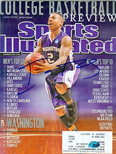 1cc0341d619 Image Unavailable. Image not available for. Color  Isaiah Thomas autographed  magazine Sports Illustrated (Washington Huskies Boston Celtics) ...