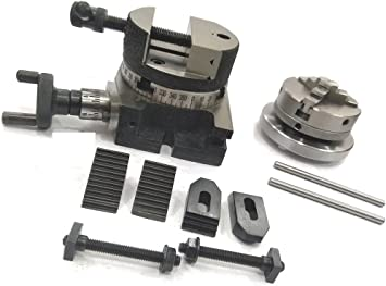 """Quality Round Vice For 3/'/' /& 4/"""" Rotary Table Milling Indexing Table with 3 Tnuts"""
