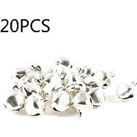 SALAKA 20pcs Mini Campanas de Metal Plateadas Pequeñas