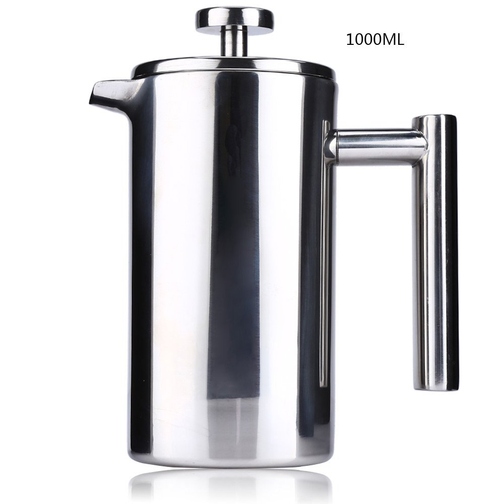 Robolife 350ML/12 Ounce Stainless Steel Double Wall Insulated Coffee Press Tea Maker with Filter