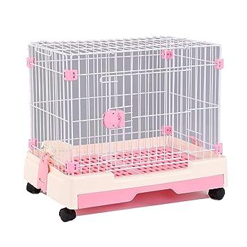 Suministros portátiles para Mascotas de una Puerta, Jaula para Gatos para Perros con cercas para Mascotas, jaulas para Ejercicios para Mascotas pequeñas ...