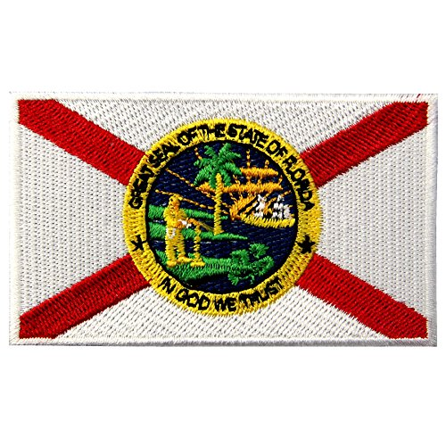 EmbTao Embroidered Florida State Flag Iron On Sew On Patch FL ()