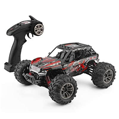 DM 1: 16 Scale RC Cars for Kids & Adults, 36km/H High Speed 4WD Remote Control Truck, 2.4Ghz Radio Controller, Radio Controlled Electronic Cars, Waterproof Off-Road RC Trucks, White: Toys & Games