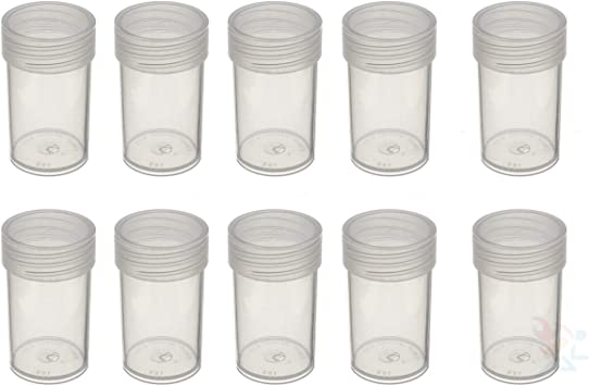 Edgar Marcus US Small Dollar Round Coin Storage Tube Holders Qty 5