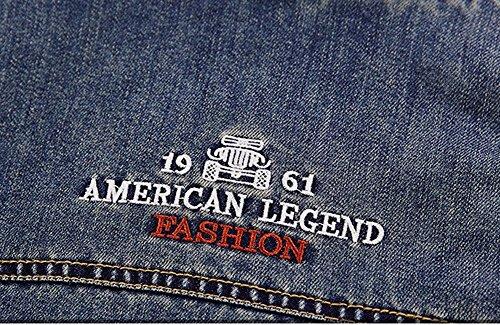 Retro Inverno Jacket Capispalla Outwear Scuro Lunga Manica Casual Blu Giacca Caldo Uomo A Parka Minetom Giacche Da Jeans BEwdgg