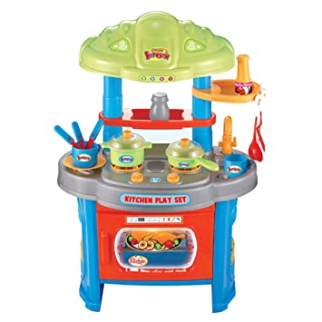 Amazon Com Kids Kitchen Toy Kitchen Playset Simulation Kitchen