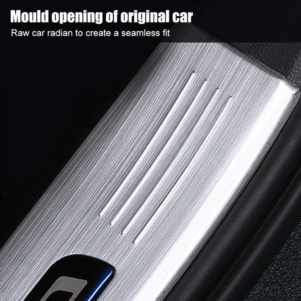 Hamkaw Tesla Model 3 Accessoires arri/ère seuil de Porte Protecteur Convient pour Tous Les mod/èles Tesla 3 Argent