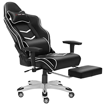 JL Comfurni Luxury Padded Footrest and Lumbar Cushion Gaming Chair on google nap chair, google's sleeping chair, office nap pillow, gravity chair, outdoor nap chair, office nap time, office nap rug, public nap chair, office guest chairs, energy pod chair, sleeping nap chair,