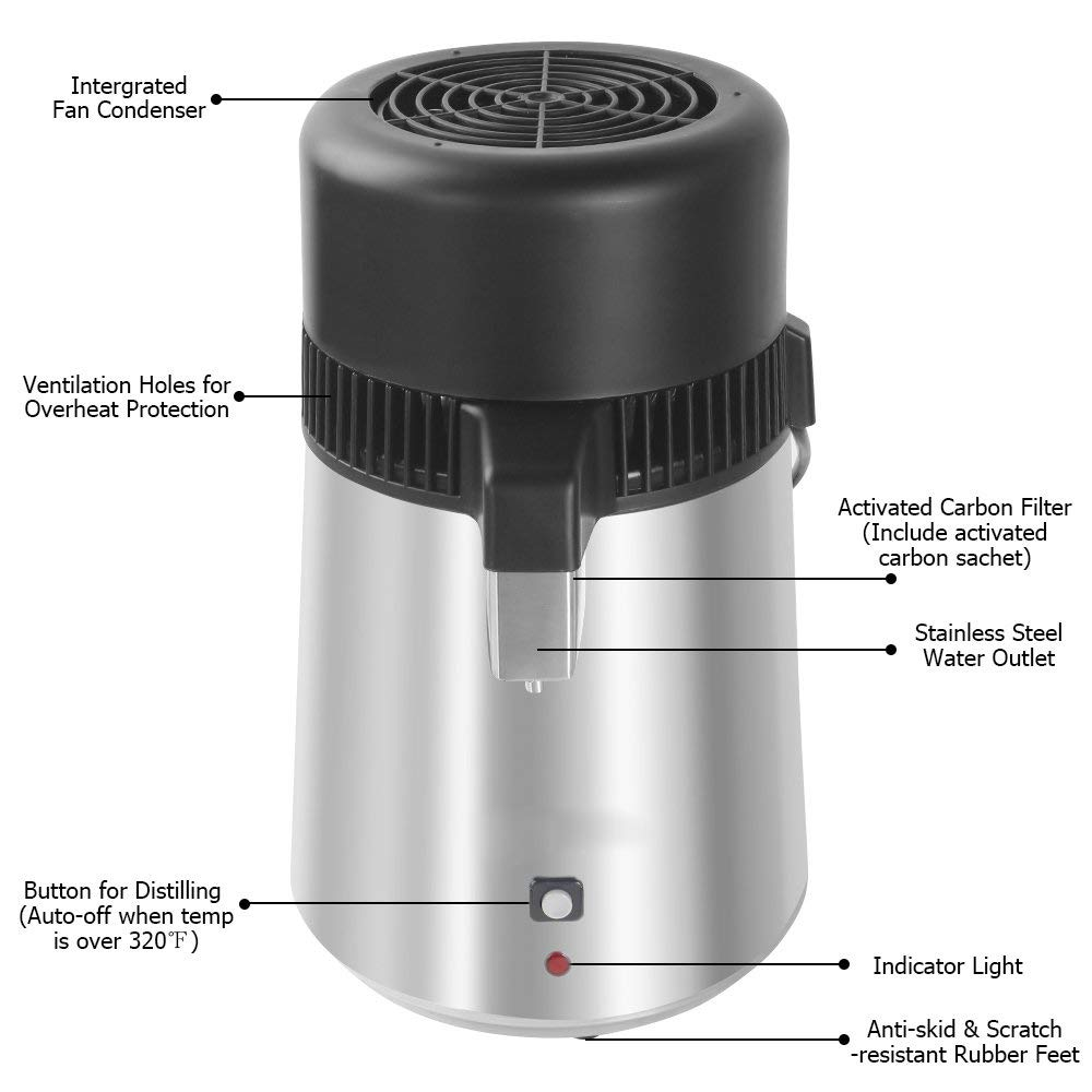 Amazon.com: Filtro de destilador de agua de acero inoxidable ...