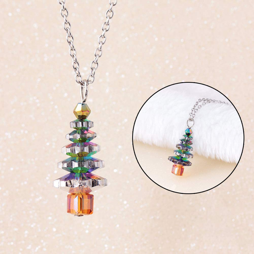 Bluelans Christmas Decorations, Christmas Tree Fake Crystal Pendant Fashion Women Jewelry Gift Chain Necklace Xmas Gifts Xmas Stocking Fillers