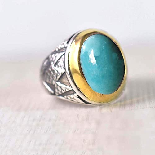 Anniversary Ring Authentic,Sales, Two Stone Silver Ring Boho Ring Cabochon Ring Amazing Multi Stone Ring Sterling Item Gift Ring