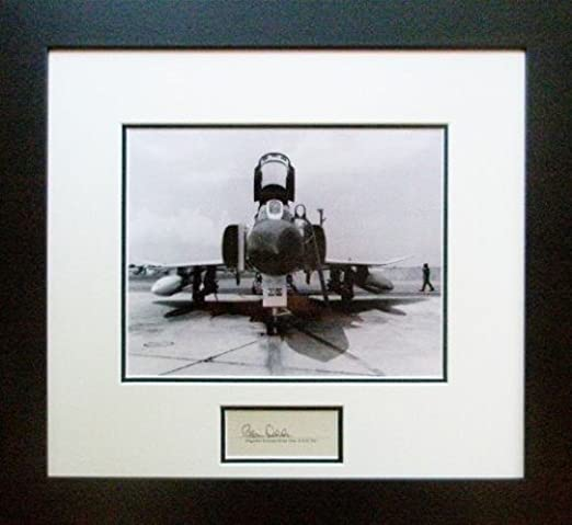 w// Autograph of American Fighter Ace Robin Olds F4 Phantom!