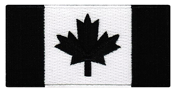 ed844a0d2 Amazon.com  Canada Black Flag Embroidered Patch Canadian Maple Leaf ...